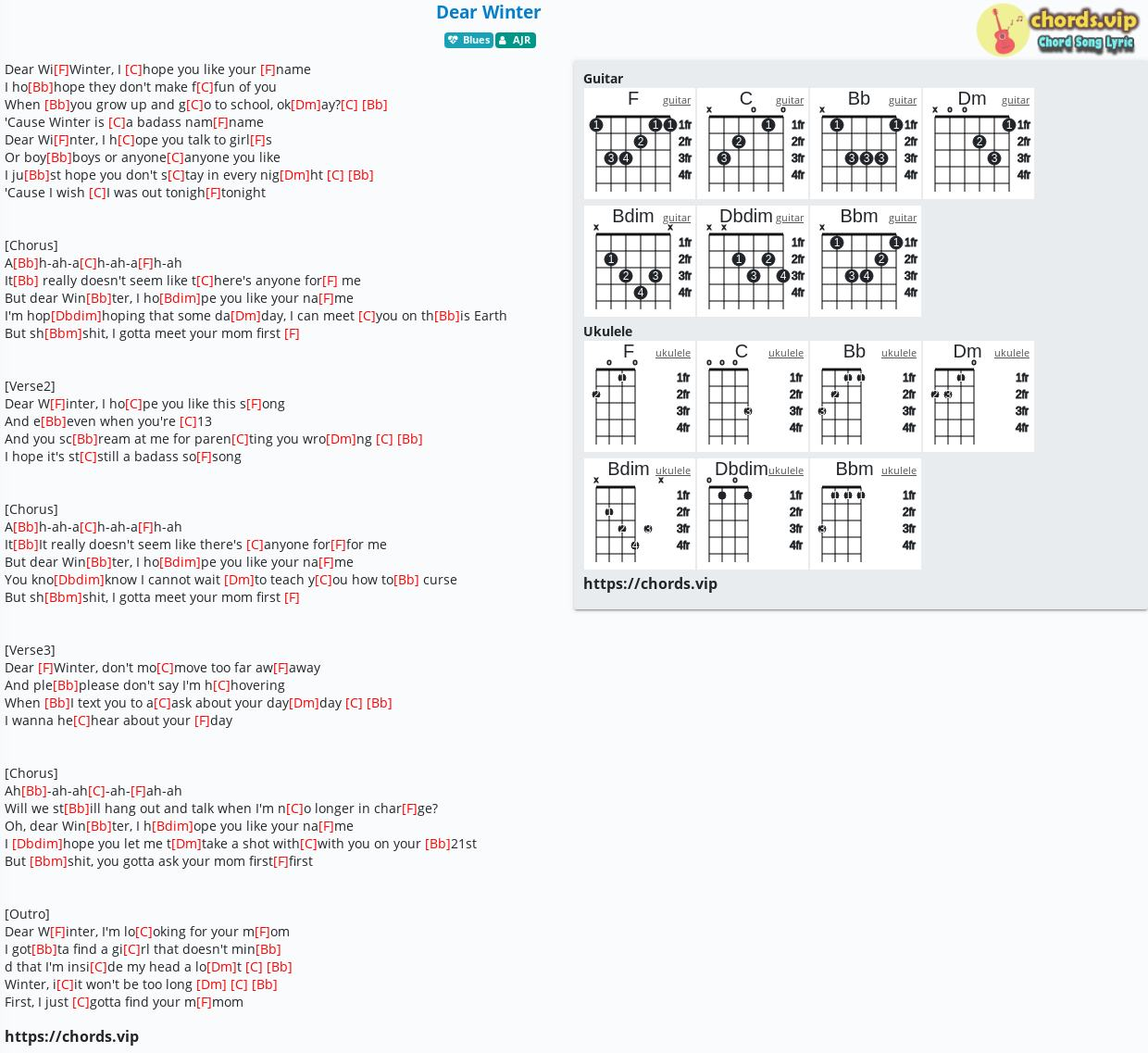 Chord Dear Winter Ajr Tab Song Lyric Sheet Guitar Ukulele Chords Vip You can enter any chord and even choose the pitch of each string. chord dear winter ajr tab song
