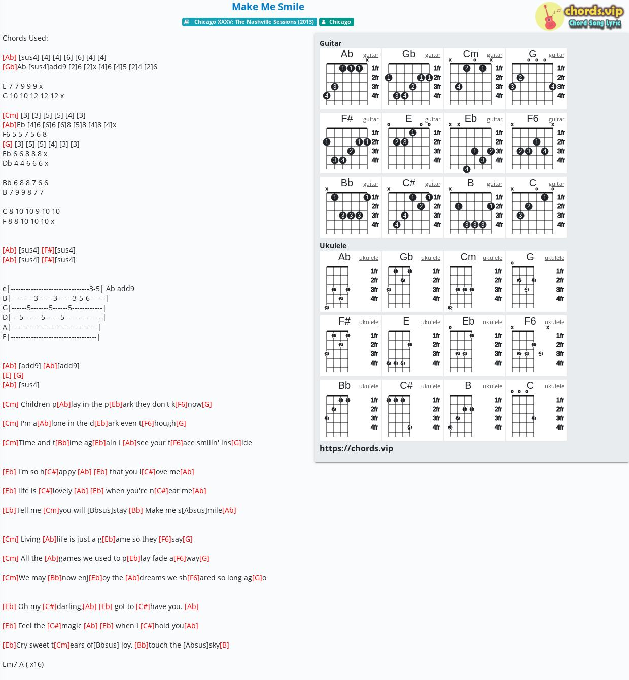 With A Smile Lyrics Piano Chords
