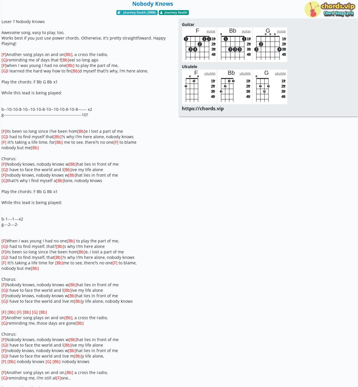 Chord Nobody Knows Journey South Tab Song Lyric Sheet Guitar Ukulele Chords Vip Check out nobody knows song lyrics in english and listen to nobody knows song sung by faces on gaana.com. tab song lyric sheet guitar ukulele